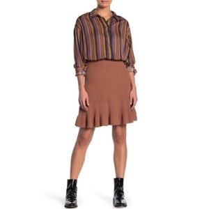 NWT Free People Solid Gold Skirt in Brown